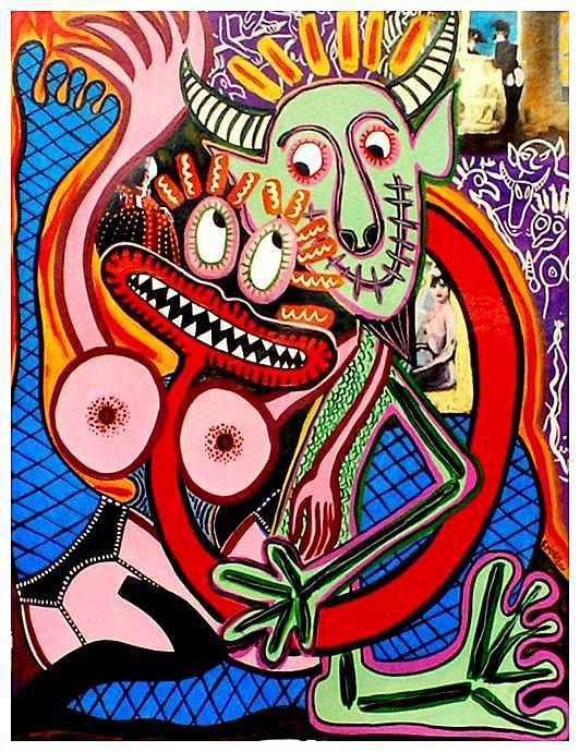 Reine du sabbat peinture mon salaud et la reine du sabbat for Art plastique peinture