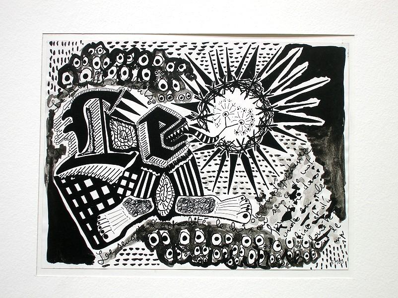 Dessin à l\'encre de Chine sur papier : art contemporain et encre ...
