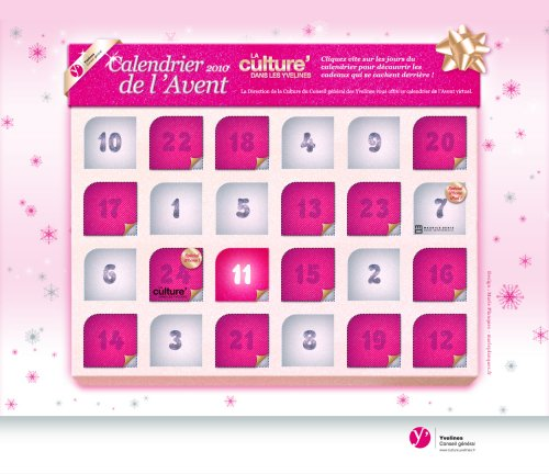 calendrier avent yvelines calendrier de l avent yvelines 2010. Black Bedroom Furniture Sets. Home Design Ideas