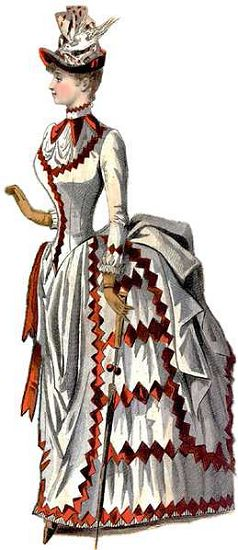 Gravure de mode, XIXe siècle