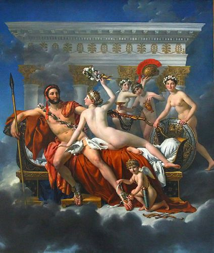 Jacques-Louis DavidAres And Athena Together