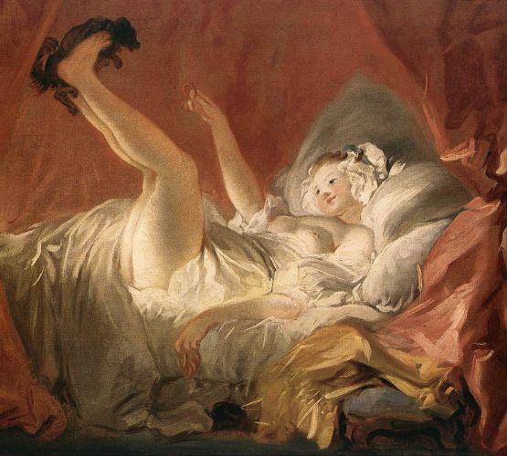 Fragonard, Jeune fille jouant avec un chien
