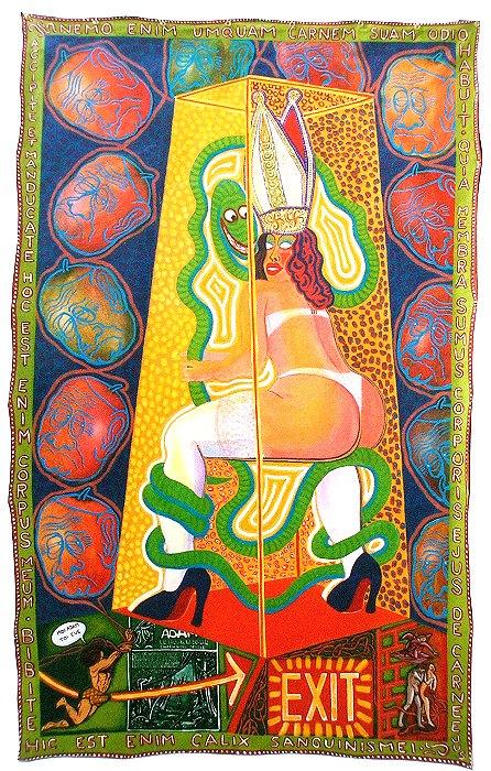 Eve peinture eve et le serpent par l 39 artiste - Peinture effet serpent ...