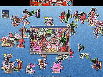 Puzzle art jeu art contemporain puzzle gratuit - Jeu de peinture en ligne ...