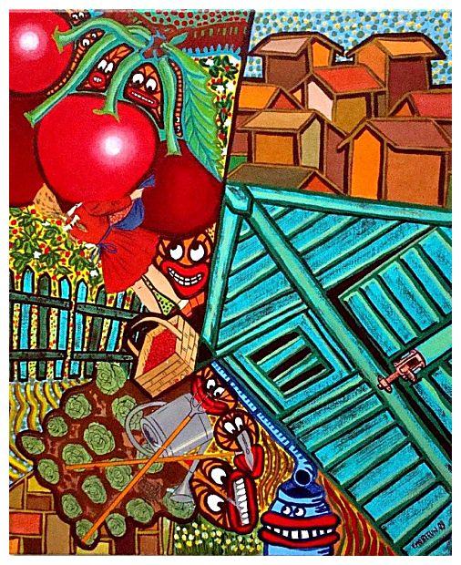 oh la belle rouge tableau contemporain sur le th me oh la belle rouge. Black Bedroom Furniture Sets. Home Design Ideas